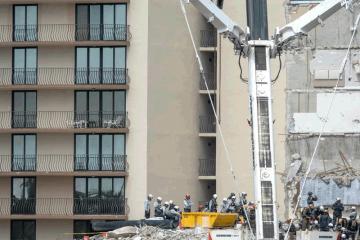 Mais um prédio tem risco de desabamento em Miami, nos Estados Unidos